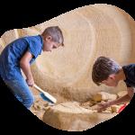 Mergelworkshop voor kinderen